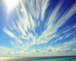 Isla Mujeres, Mexico, Clouds over the beach