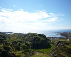 Isolated Island, Scotland, Isle of Colonsay panorama