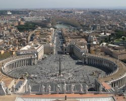 Italy Holiday, Rome, Italy, Saint Peter Square from above