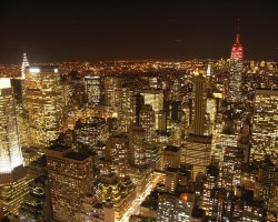 January Destinations, New York, USA, City view at night