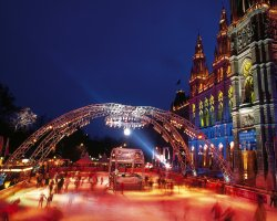 January Holiday, Vienna, Austria, Ice Dream view