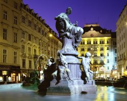 January Holiday, Vienna, Austria, Donnerbrunnen Fountain