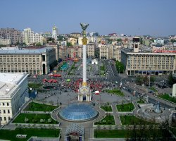 Kiev, Ukraine, Independence Square upview