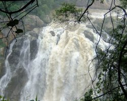 Kingdom of Swaziland Holiday, Mantenga Falls, Swaziland, Africa, Fall close view