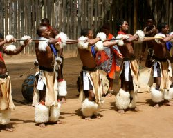 Kingdom of Swaziland Holiday, Swaziland, Africa, Locals dancing