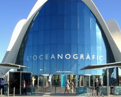 Largest Aquarium, Valencia, Spain, LOceanographic front view