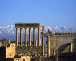 Lebanon, Asia, Baalbek temple sight