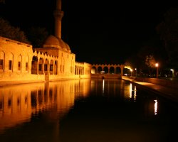 Lesser Known Turkey, Sanliurfa, City view by night