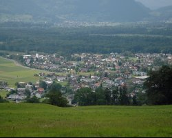 Liechtenstein, Europe, View from the Red Schellenberg