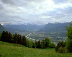 Liechtenstein, Europe, Rhine Valley