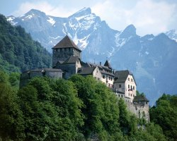 Liechtenstein, Europe, Vaduz Castle overview