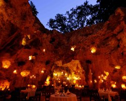 Lifetime Holiday, Ali Barbour Cave Restaurant, Kenya, Africa, Interior view
