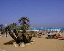 Lignano, Italy, Beach overview