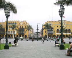 Lima, Peru, Central square overview