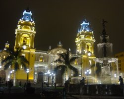 Lima, Peru, Catedral night view