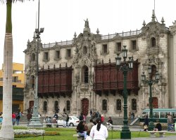 Lima, Peru, City Palace front view