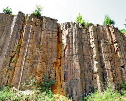Natural Reserve Holiday, Limpedea Columns, Baia Mare, Romania, Front view