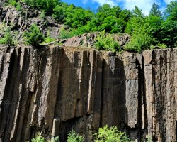 Natural Reserve Holiday, Limpedea Columns, Baia Mare, Romania, Upview