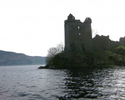 Loch Ness, Scotland, Europe, Castle ruins view