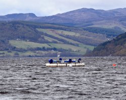 Loch Ness, Scotland, Europe, Wave testing system