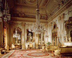 London Attraction Holiday, Buckingham Palace, London, United Kingdom, Interior hall view