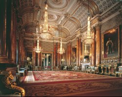 London Attraction Holiday, Buckingham Palace, London, United Kingdom, Interior hall overview