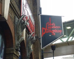 City Break Holiday, London, United Kingdom, The London Dungeon entrance statues