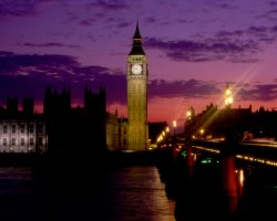 London, United Kingdom, Big Ben Tower at night