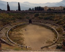 Lost Cities Attraction, Pompeii, Italy, Ruins amphitheatre