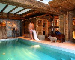 Luxurious Ski Holiday, Chalet Le Rocher, Val dIsere, France, Interior pool