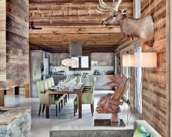 Luxurious Ski Holiday, Chalet One Oak, Megeve, France, Dining room