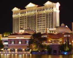 Luxury Holiday, Las Vegas, USA, Caesars Palace, View by night