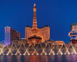 Luxury Holiday, Las Vegas, USA, The Bellagio Hotel, Eiffel Tower view from Bellagio