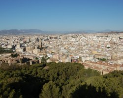 Malaga, Spain, City panorama