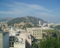 Malaga, Spain, City view from hill