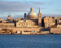 Malta, Europe, Valletta city skyline