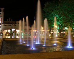 Mamaia, Romania, Casino fountain at night
