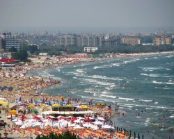 Mamaia, Romania, Beach on a season peak