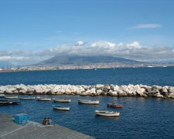 May Cheap Destiantion, Naples, Italy, Naples bay and mount Vesuvius