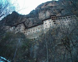 Famous Monasteries Holiday, Turkey, Sumela Monastery view from below