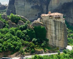 Famous Monasteries Holiday, Greece, Meteora monasteries upview