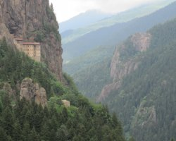Famous Monasteries Holiday, Turkey, Sumela Monastery far view