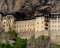 Famous Monasteries Holiday, Turkey, Sumela Monastery facade view