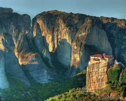 Famous Monasteries Holiday, Greece, Meteora monasteries mountain view