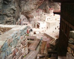 Famous Monasteries Holiday, Turkey, Sumela Monastery interior overview