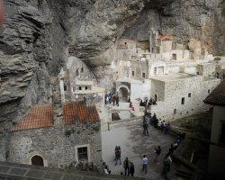 Famous Monasteries Holiday, Turkey, Sumela Monastery interior view