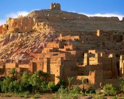 Morocco, Africa, Kasbah Ruins, Atlas mountains