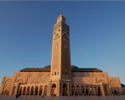 Morocco, Africa, Mosque overview