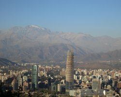Most loved Cities, Santiago, Chile, City and Andes panorama view