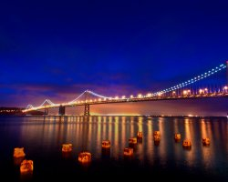 Most loved Cities, San Francisco, California, Bridge over night